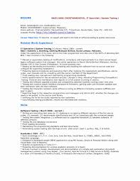 Software Testing Resume Format For Freshers Lovely Beautiful