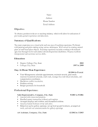 Stay Home Mom Resume Examples Sample For Your Admirable