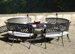 garden furniture set aluminium table round glass chairs modern resized
