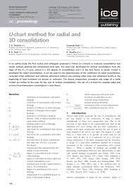 Pdf U Chart Method For Radial And 3d Consolidation