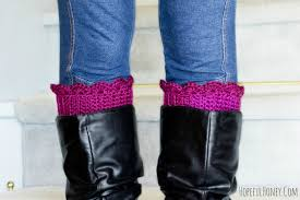 how to make scalloped boot cuffs