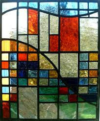 stained glass window panels color