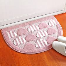 semi circular rug polyester heart shaped mat entrance door small mats bedroom kitchen bathroom little carpet
