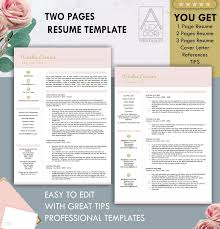 Resume Template In Blush Pink Referencesrecolorableiconletter