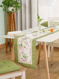 lacy patchwork modern fl past table runner kitchen table linens at chic 0qdjh60d1100m