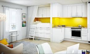 White Cabinet For Living Room Kitchen Amusing Modern White Kitchen In Open Plan Living Room