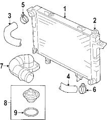 parts com® dodge radiator engine cool partnumber 55056816ab 2005 dodge ram 2500 laramie l6 5 9 liter diesel radiator components