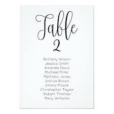 Modern Wedding Seating Chart Classic Table Plan Invitation