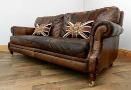 VICTORIAN STYLE HAND DYED CIGAR BROWN ANTIQUE LEATHER CHESTERFIELD CLUB SOFA   EBay Antique Leather Sofa A70