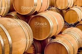 stacked oak wine barrels. Stacked Oak Wine Barrels And Casks Royalty-free Stock Photo K