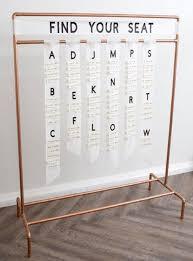 Custom Copper Wedding Seating Chart Rod Sit Back And Relax