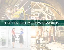 Top Ten Resume Powerwords Workpac Recruitment