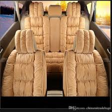 auto car seat cover full sets universal fit 5 seat suv sedans front back seat mats automotive interior warm soft cotton padded lumbar support car seat