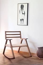 minimalist furniture design. Giacomo Rocking Chair Walnut And Woven Paper Cord Minimalist Furniture Design