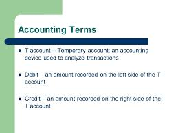 t account in accounting