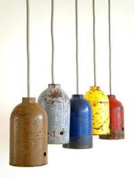 GAZI pendant lights made of recycled old steel bottles!