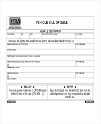 Nc Dmv Bill Of Sale Form | Ophion.co