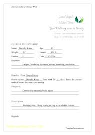 Fake Doctors Note Format Urology Doctors Note For Work Printable Fake Notes Free School