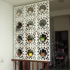 carved wood glove hanging screen entranceway office partition ivory white brief cutout hanging screen room divider cheap office partitions