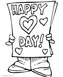 Small Picture Happy Valentines Day Coloring Pages