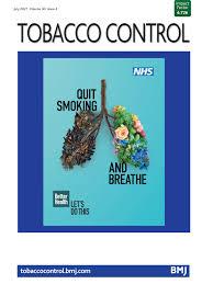 future smoking prevalence by