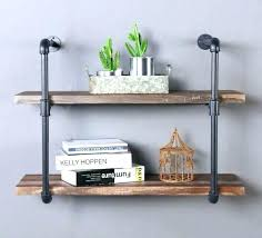 hanging shelf ideas industrial hanging shelves shelf ideas built with industrial pipe galvanized pipe shelves industrial