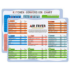 Yongfeng Air Fryer Cooking Times Kitchen Conversion Chart