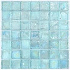 Installing Glass Mosaic Tile Backsplash Impressive Iridescent Glass Mosaic Tile Aqua 48x48 Mineral Tiles