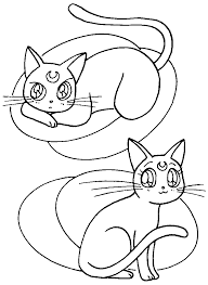 Small Picture Artemis and Luna Coloring Page sailormoon Sailor Moon