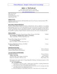 ... Resume Objective Entry Level 3 14 Accounting Raj Samples Resumes ...