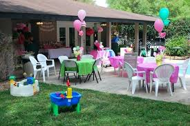 round table decorations round table decoration for birthday party awesome backyard party for birthday with some