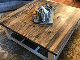 The very next day, our diy farmhouse coffee table topper was snugly in place. Diy Farmhouse Coffee Table 731 Woodworks We Build Custom Furniture Diy Guides Monticello Ar
