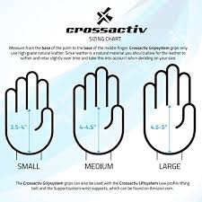Gymnastic Grips Size Chart Crossactiv Gripsystem Textured Leather Hand Grips 1 Pair