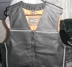 first classics men s leather on front club vest lace fim695 csl large