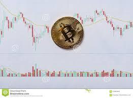 Bitcoin Cash Candlestick Chart Bitcoin On A Candlestick Charts Chart Stock Image Image Of