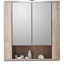 Furnline 1408 503 26 Star Monument Oak Bathroom Mirror Cabinet