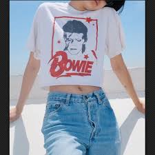 Brandy Melville Tops   Brandy Melville David Bowie Crop Top Band ...