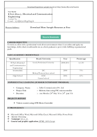 Word Format Resume Resume Format Word Format Microsoft Word Format