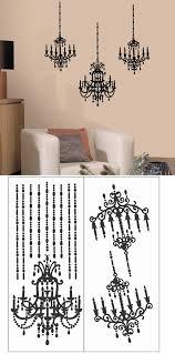 chandelier wall sticker hostingrq lighting ideas