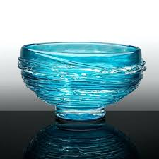 blown glass bowl sea bowl limited edition hand blown glass by island art blown glass bowl