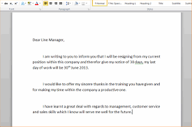 how to write resignation letter write a resignation letter step 3