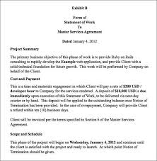 Simple Statement Of Work Template Obiefernandez How To Write A Consulting Agreement