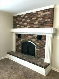 molding around fireplace updated brick fireplace updated brick fireplace with new surround trim around hearth and molding around fireplace