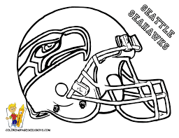 Kids Coloring Page Nfl Football Helmets Pages Seattle For Helmet ...