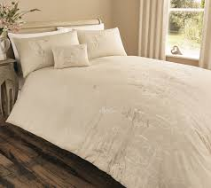 serene claudia easy care duvet cover bedding set or curtains natural