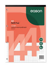 Eason A4 Pad Graph 144pgs 70gsm