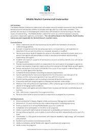 Commercial Underwriter Cover Letter Underwriter Cover Letter