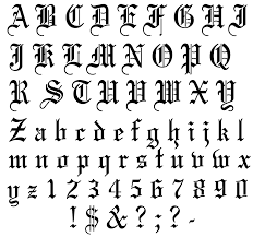 Letters For Tattoos Template Exciting Old English Lettering Tattoo Design Ideas Amazing 1
