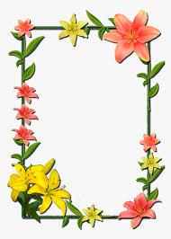 Picture Frame Design Png And Picture Flower Frame Frames Borders Flower Frame