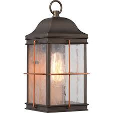 Exterior Wall Accent Lighting Nuvo Lighting 60 5832 Howell Bronze With Copper Accents 1 Light Medium Outdoor Wall With 60w Vintage Lamp Inc